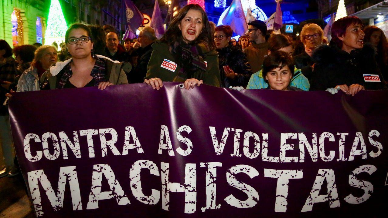 Los vigueses también salen a la calle para protestar por la violencia de género