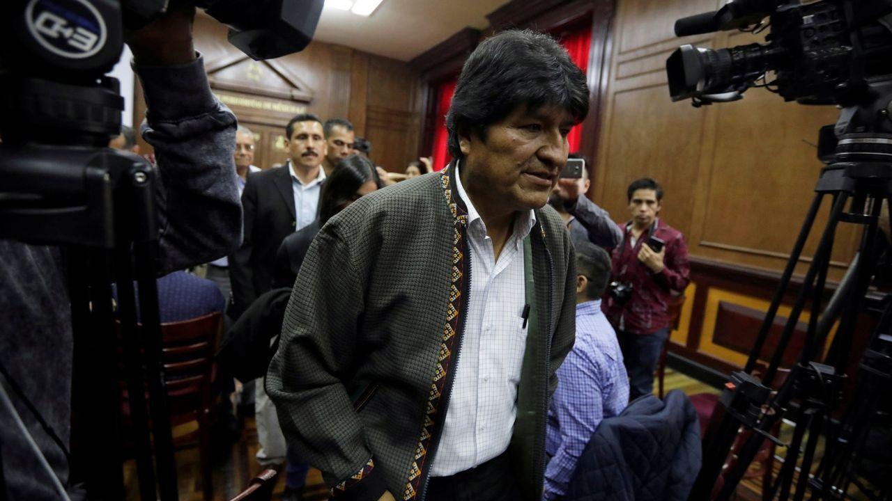 Evo Morales, en una comparecencia ante la prensa el pasado noviembre en México