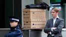 Un empleado de Lehman Brothers el día de su quiebra.