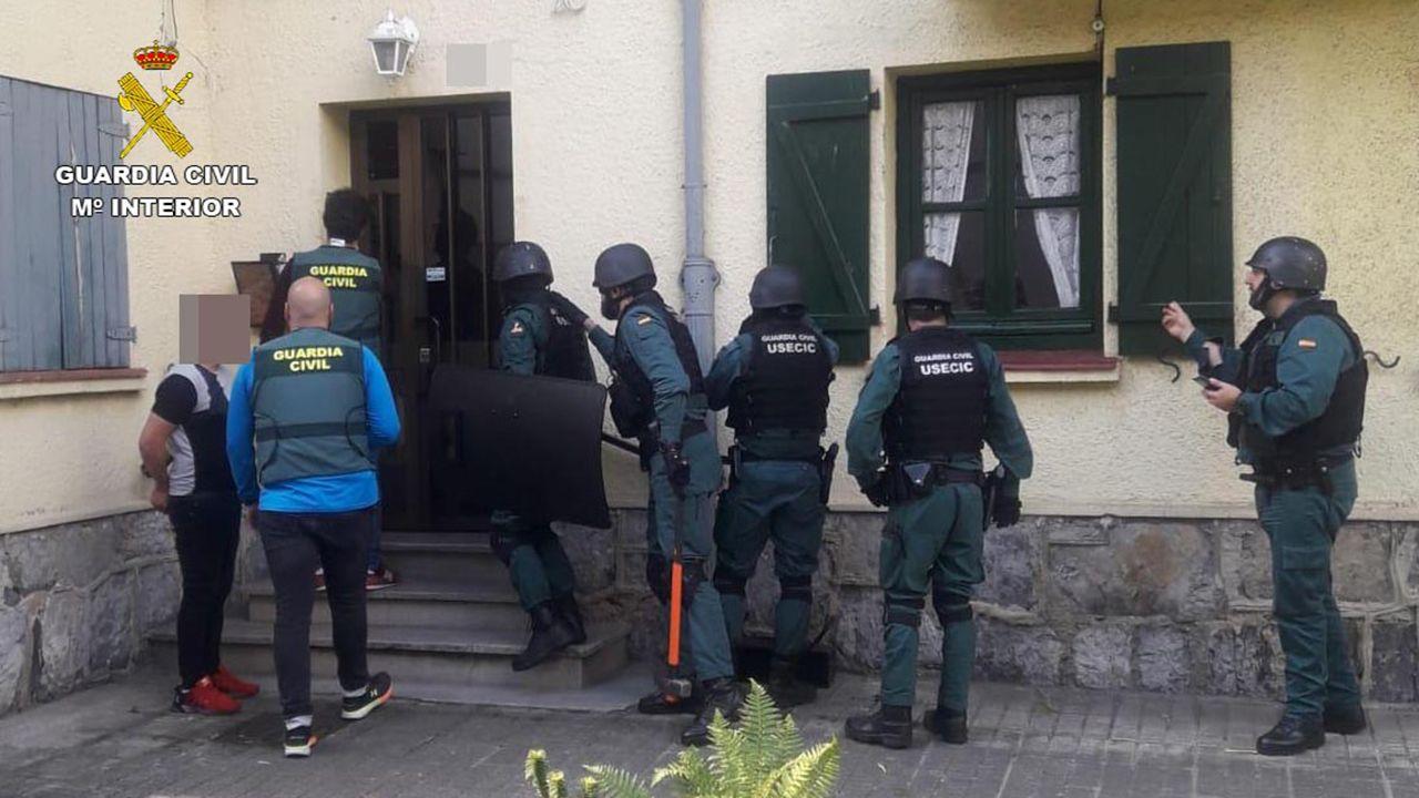 La Guardia Civil, en un operativo en Asturias