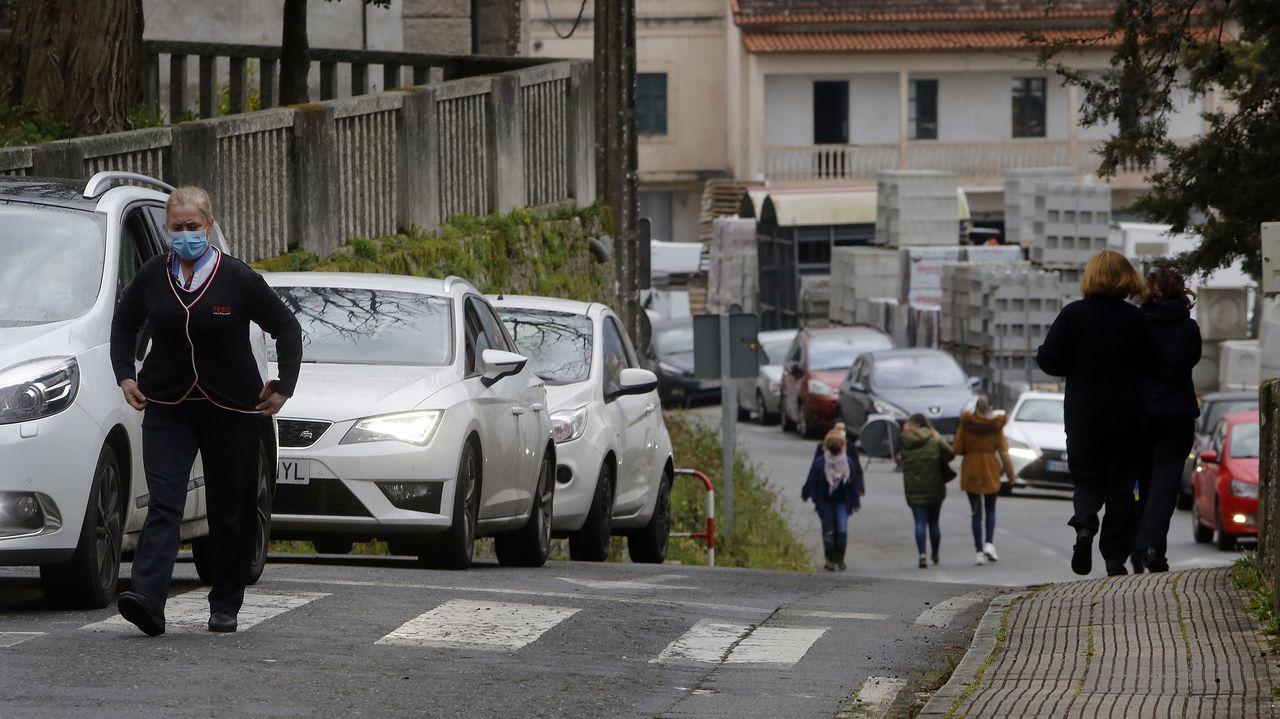 Clases online nos conservatorios da comarca polas medidas restrictivas da Covid.Entrada del servicio de urgencias del hospital Montecelo, en Pontevedra