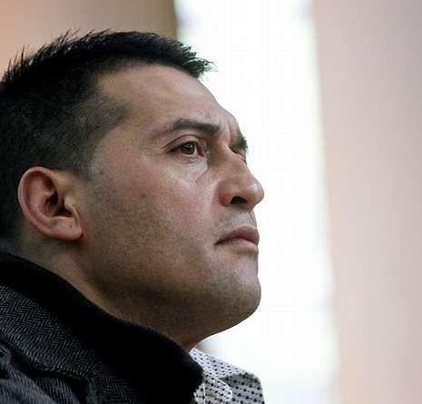 José Manuel García Adán, ayer en el banquillo.