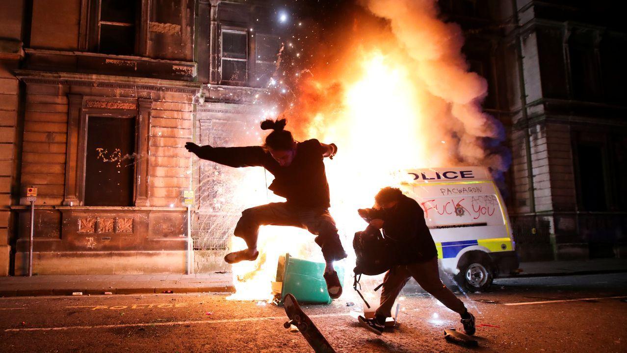 Disturbios la noche del domingo en Bristol