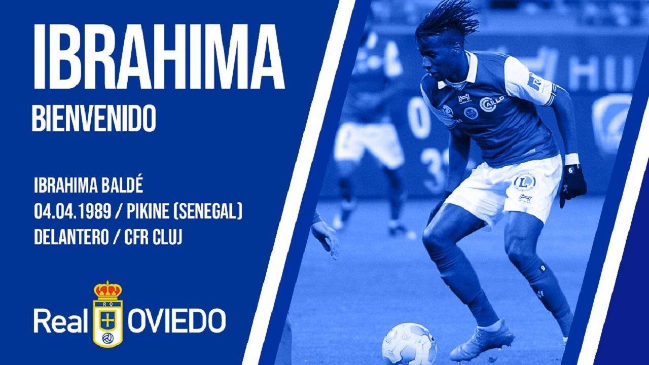 Ibrahima Baldé, nuevo jugador del Real Oviedo