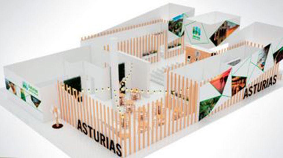 Recreación del stand de Asturias en Fitur