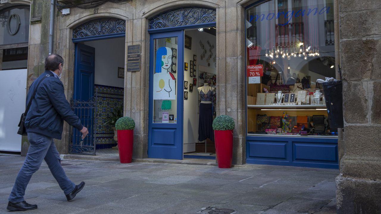 El incidente se produjo en la tienda Morgana, situada en la Rúa do Vilar