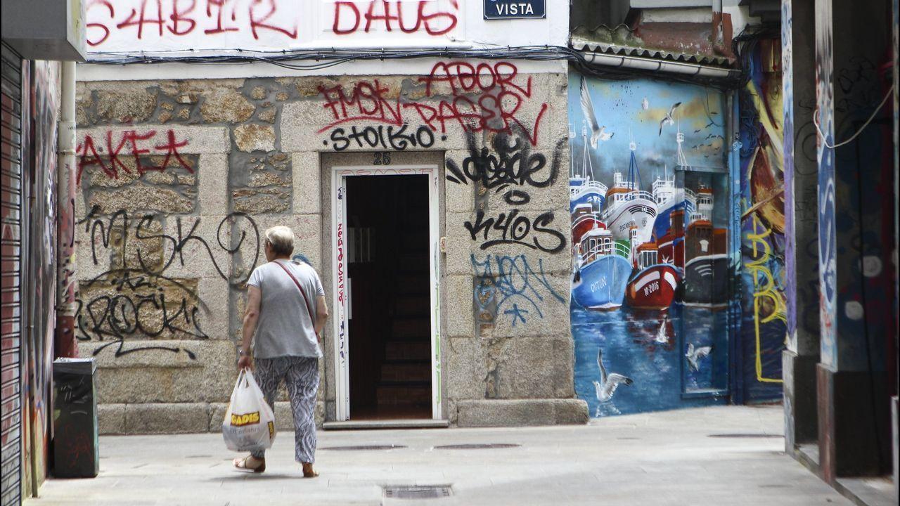 Grafitis encontrados en A Coruña en julio del 2018