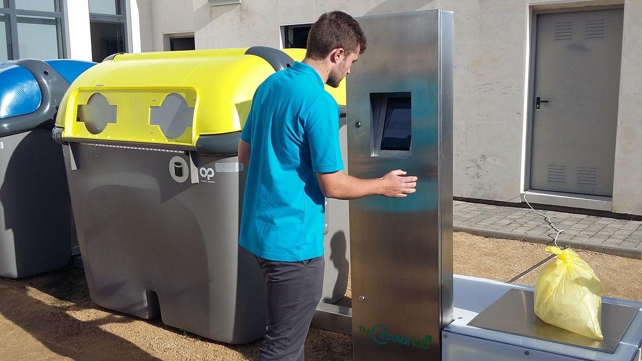 Contenedor inteligente desarrollado por TheCircularLab, el centro de innovación de Ecoembes