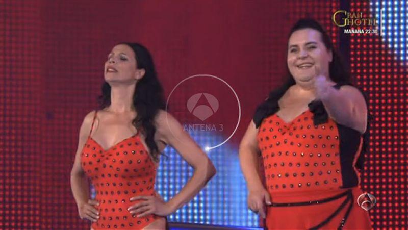 Falete y Toñi Salazar saltan en «Splash»