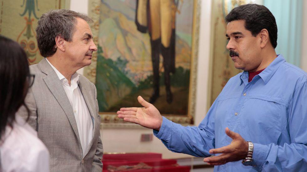 Y tú... ¿qué querías ser de mayor?.El expresidente Zapatero, a finales de julio en Venezuela con Maduro