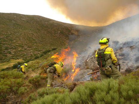 Efectivos de extinción de incendios