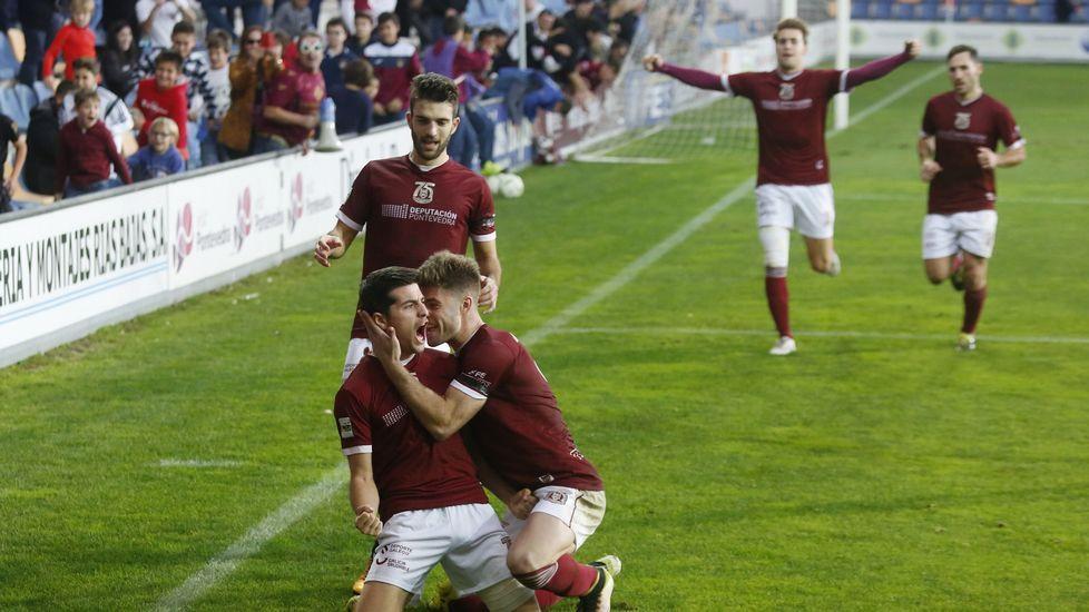Fran, el día de su debut contra el Burgos