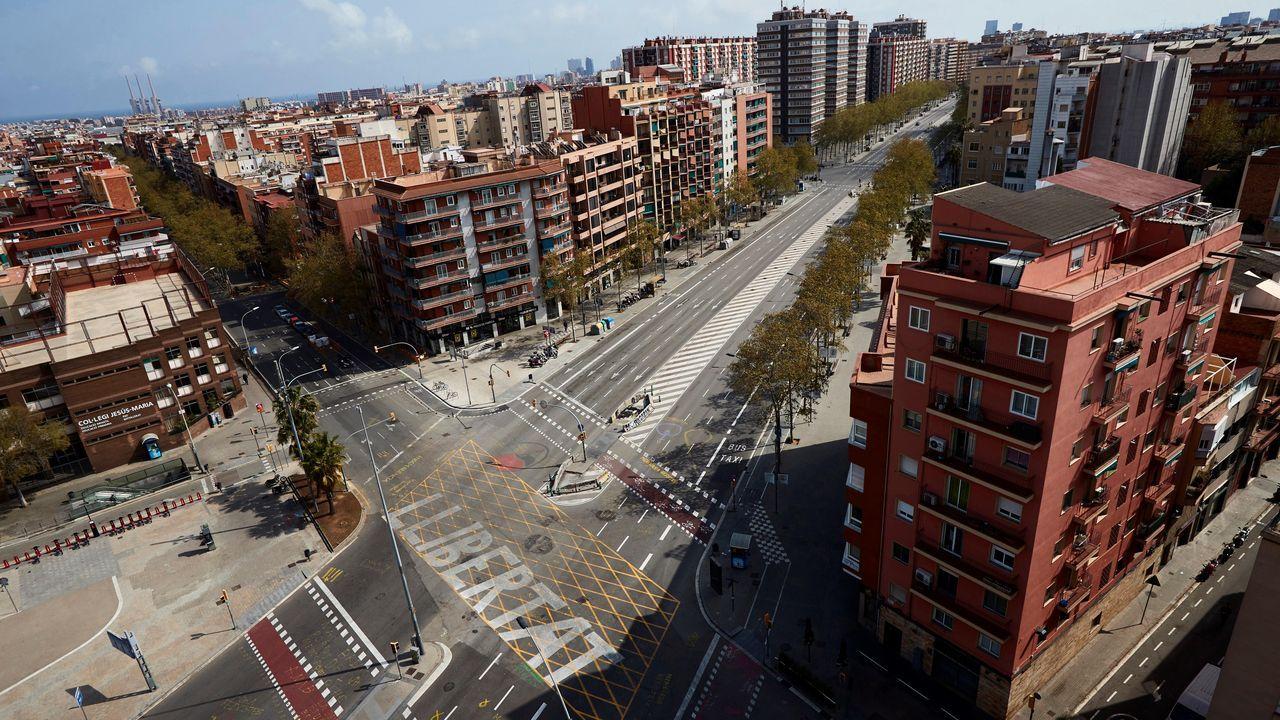 Vista de la avenida Meridiana, en Barcelona
