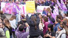 Imagen de archivo de una manifestación por el 8M