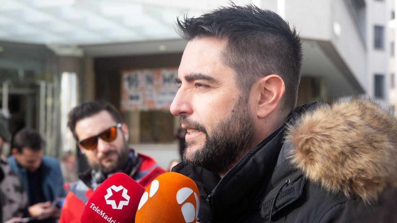 | EFE.Pedro Nieva, a su salida de los juzgados de Llanes