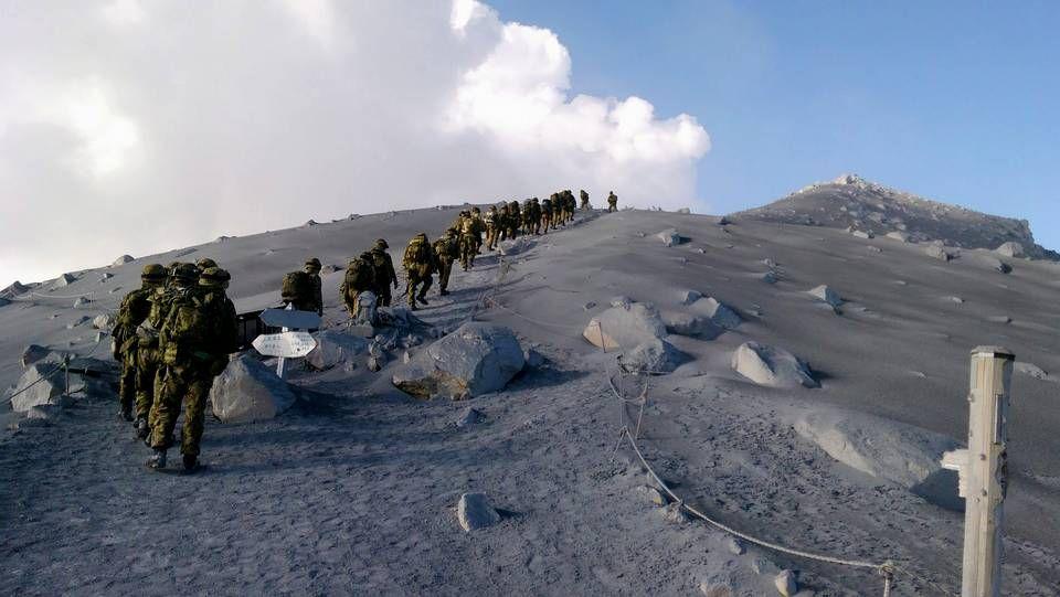 Rescates en el volcán japonés de Ontake