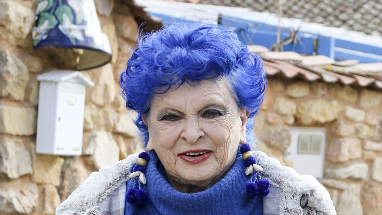 Lucía Bosé, durante su 88 cumpleaños