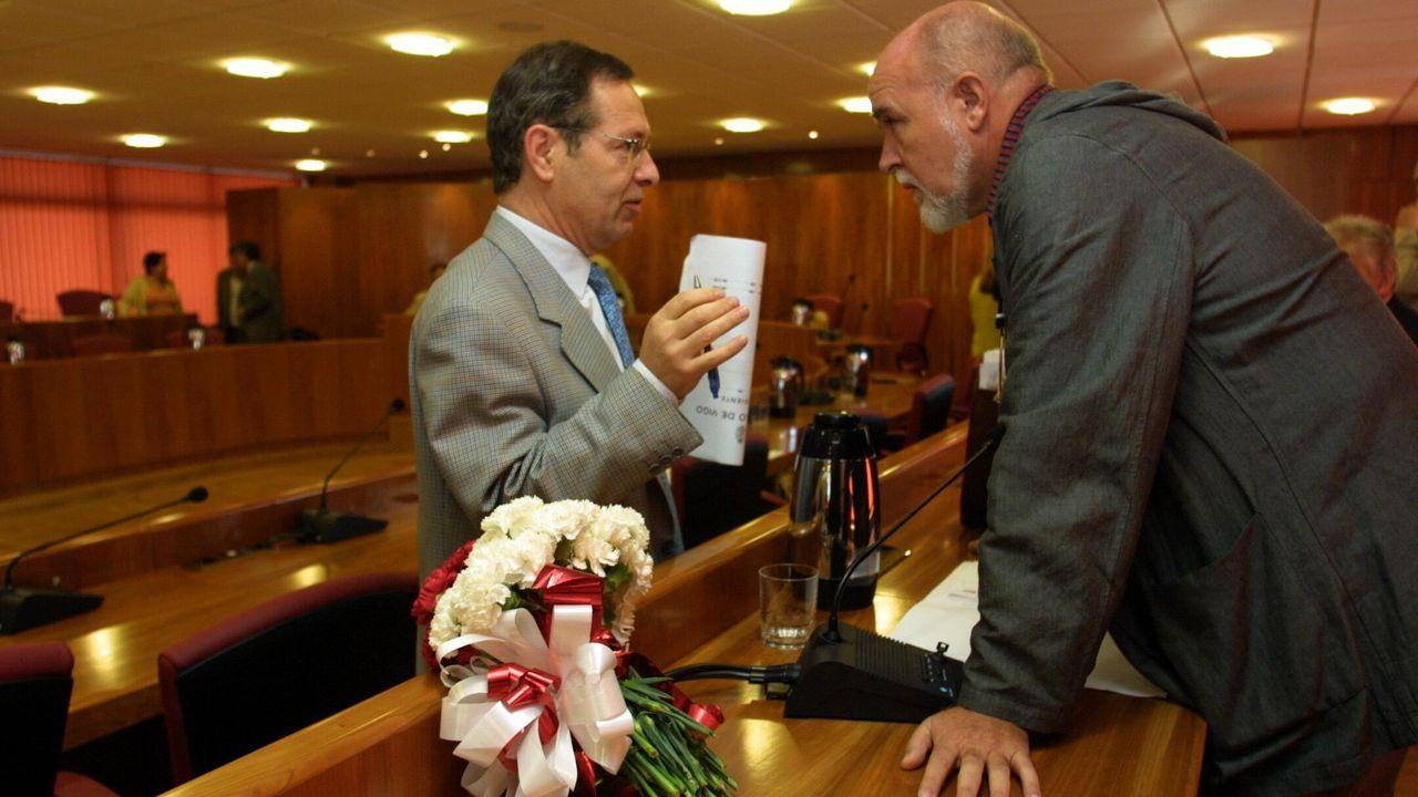 Con Ventura Pérez Mariño, en el 2003