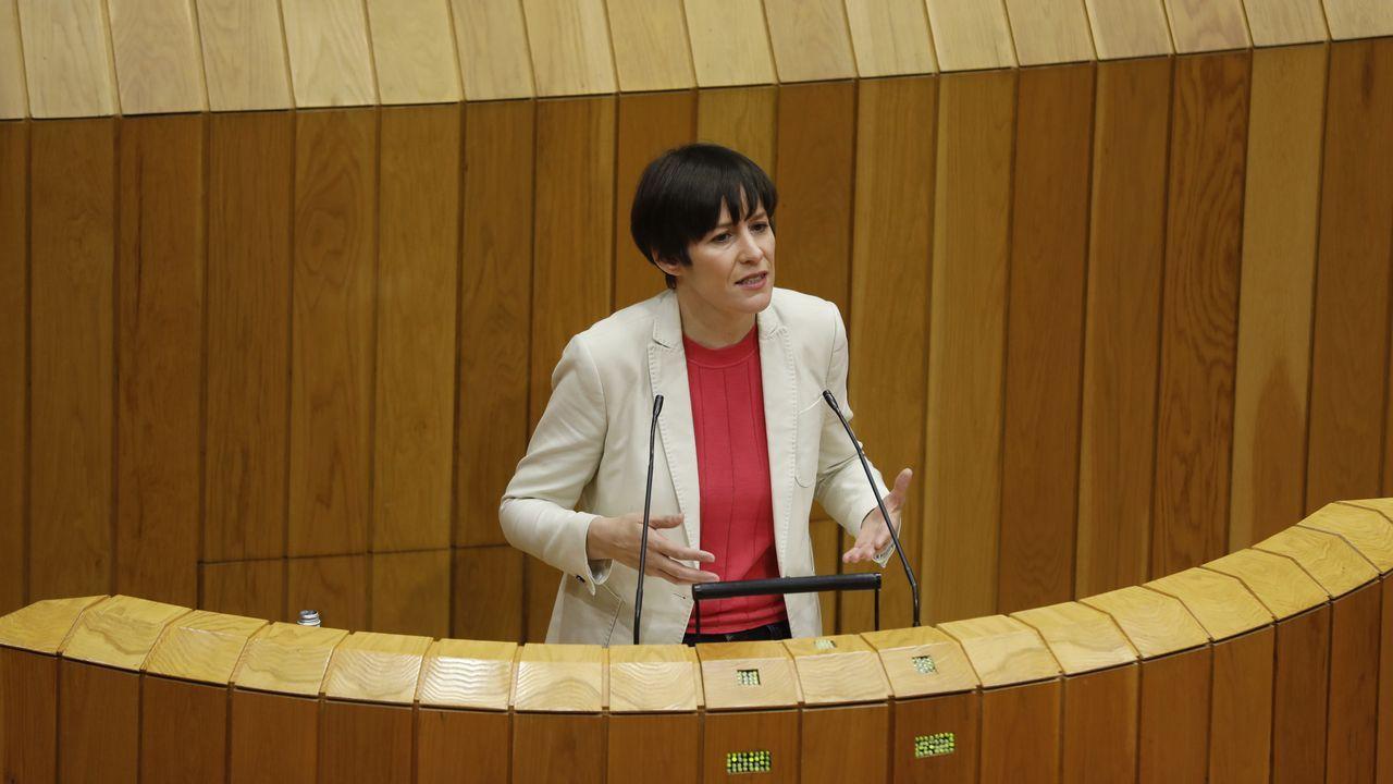 Pontón, durante una intervención en el Parlamento gallego, en imagen de archivo