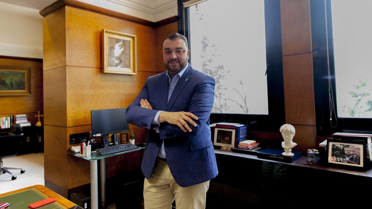 El presidente del Principado, Adrián Barbón