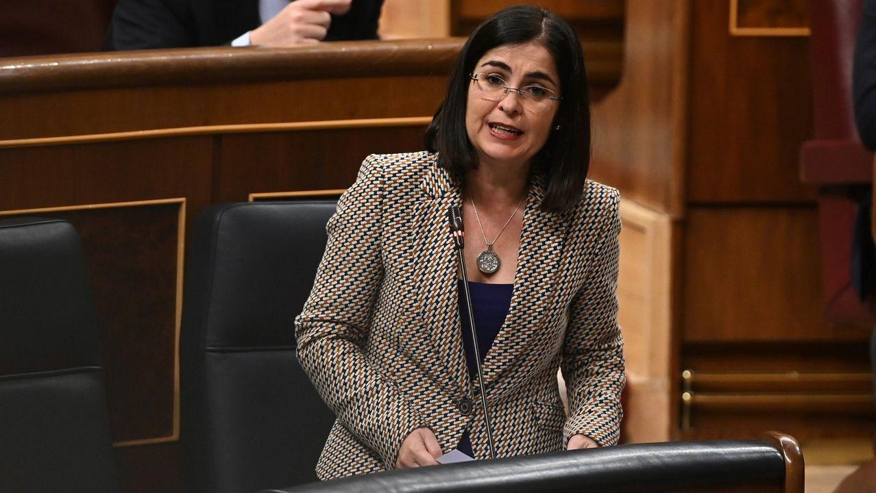 El ministro de Sanidad, Salvador Illa, durante una rueda de prensa.Carolina Darias, ministra de Política Territorial
