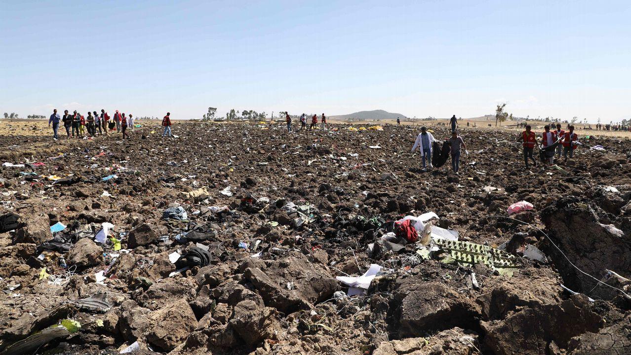 Zona donde cayó el Boeing 737 de Ethiopian Airlines