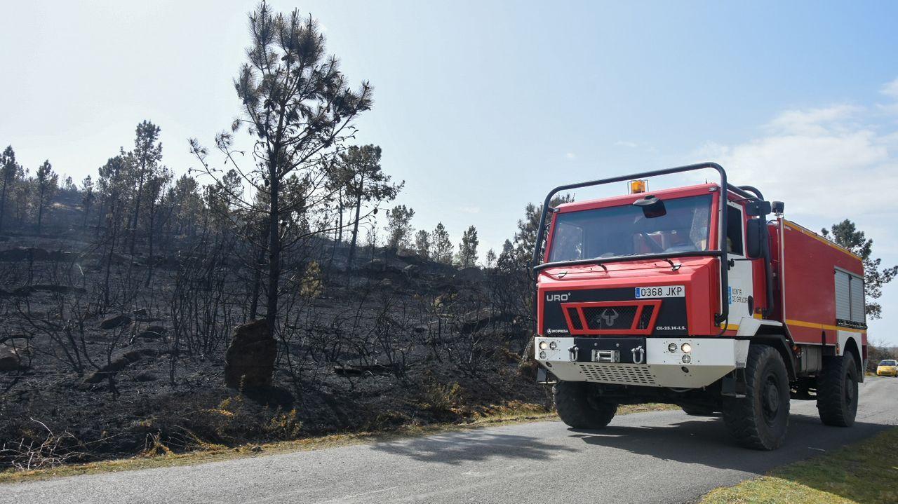 Un incendio afecta a varias naves del polígono industrial de O Ceao.Incendios en Asturias