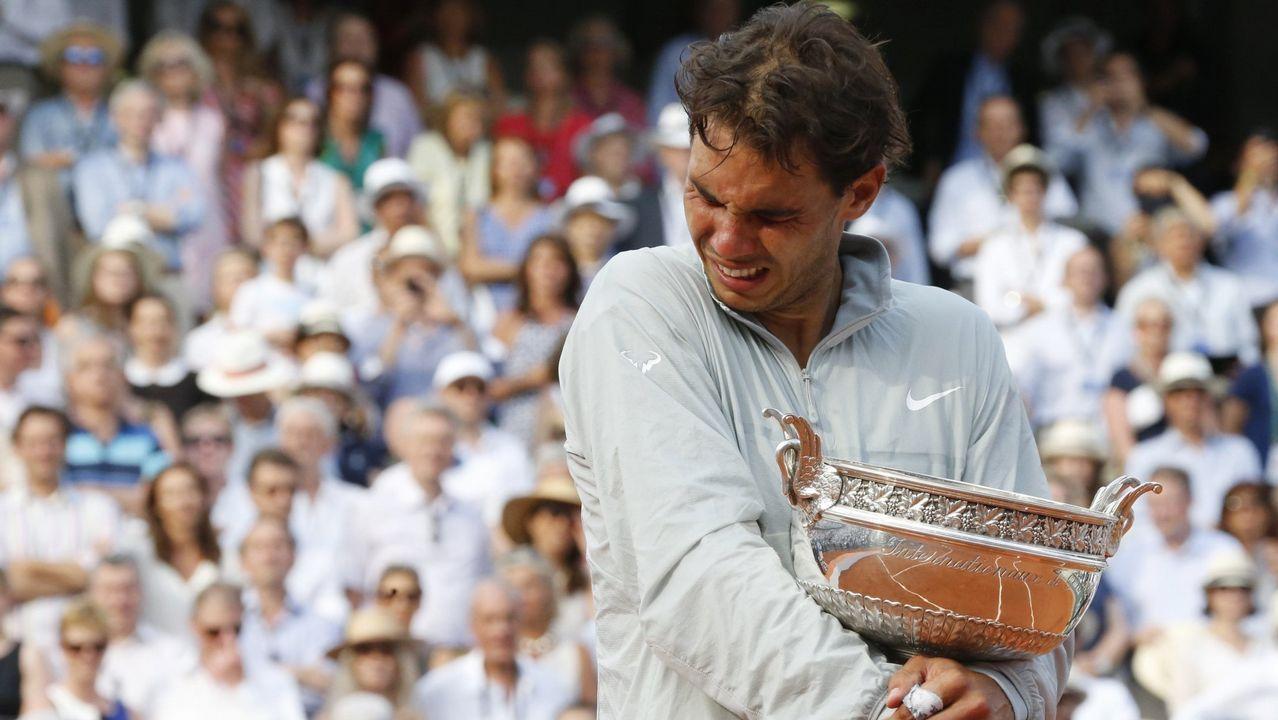 La emotiva victoria del año 2014 también fue ante Djokovic. Era la novena final ganada.