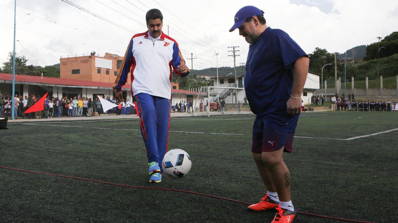 Nicolás Maduro y Diego Armando Maradona, esta semana en Caracas