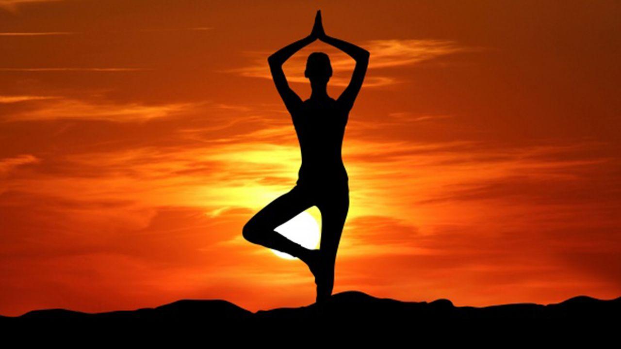 Una postura de yoga