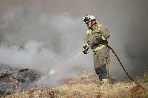 Incendio en la comarca de Monterrei, en Ourense.El incendio en Monterrei es el más grande de Galicia en lo que va de verano