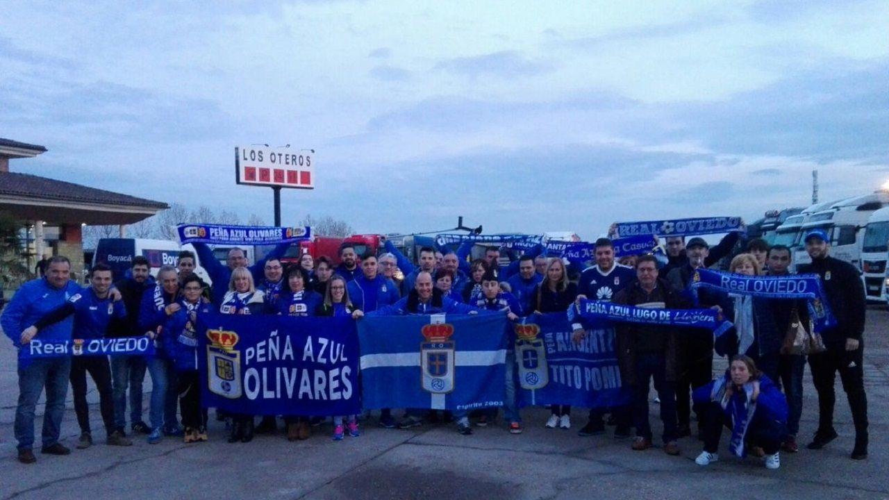 La Peña Azul Olivares en un desplazamiento a Soria