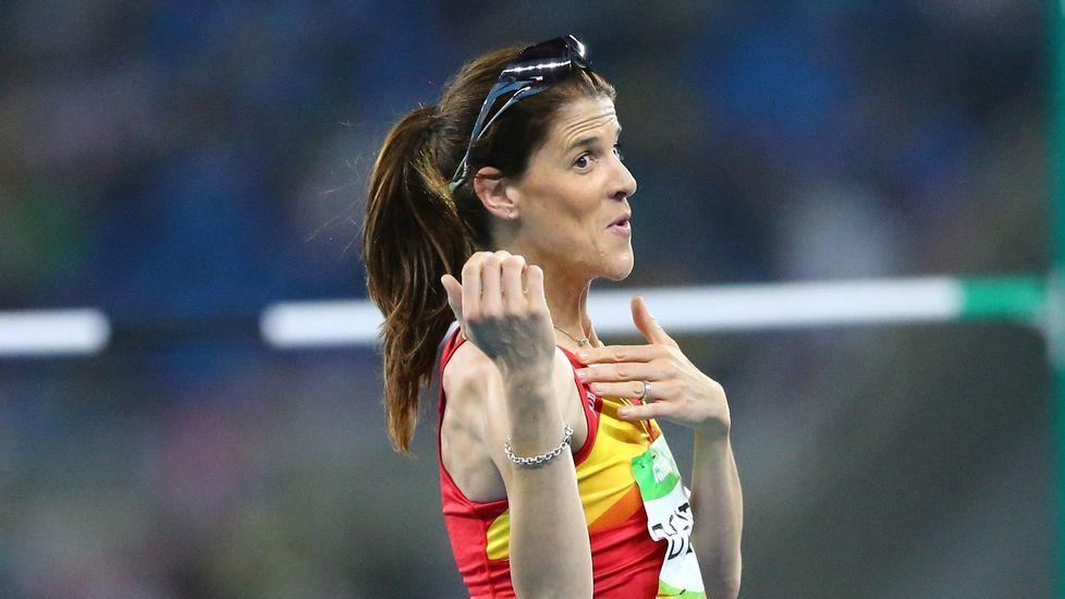 El salto de oro de Ruth Beitia, en imágenes.La piragüista australiana Naomi Flood.
