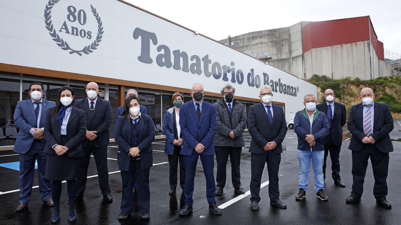 Inauguración tanatorio do Barbanza en Ribeira.Ribeira estrenó el viernes las restricciones de nivel alto