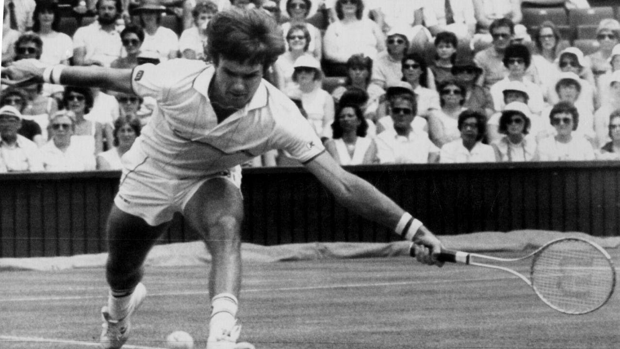 Jimmy Connors en un partido contra Simmonsson en 1984
