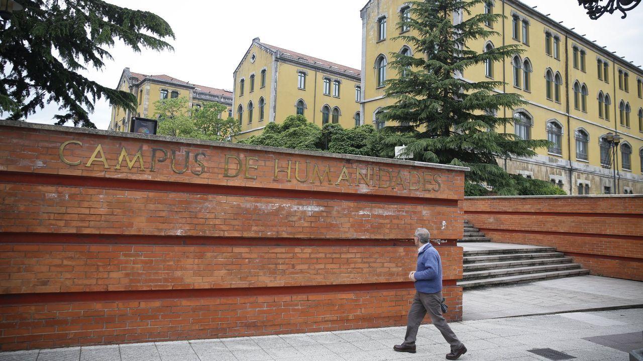 El patio de la Universidad de Oviedo.