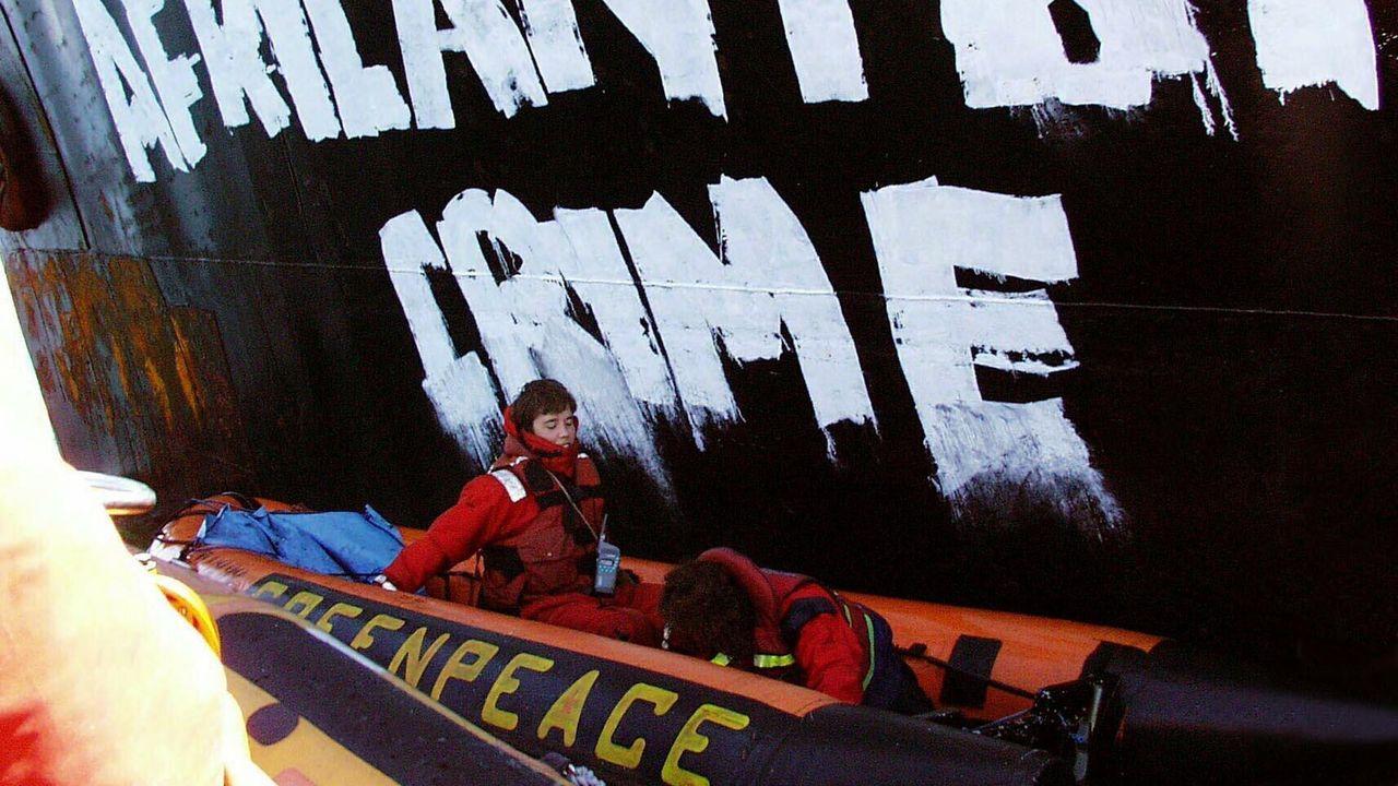 A bordo del Rainbow Warrior de Greenpeace