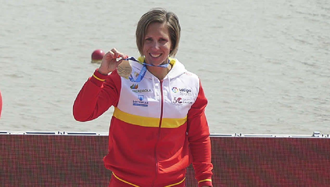 Teresa Portela: «Estoy ilusionada».Medalla de plata para el k4 500 de Craviotto en el mundial de piragüismo