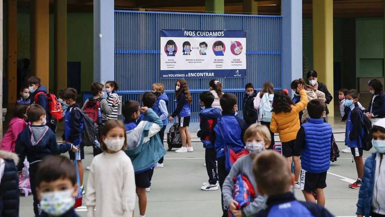 Niños en un colegio de Ourense a principios de octubre