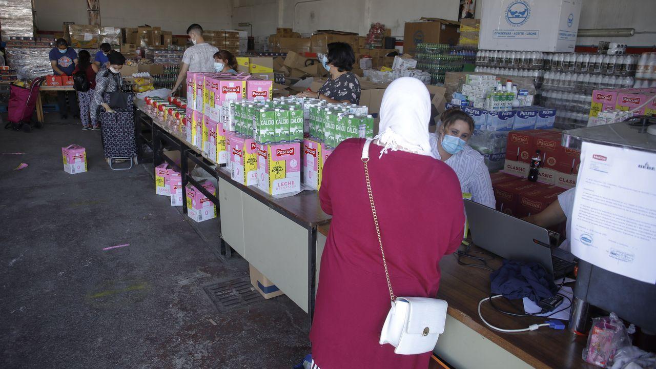 Ayer por la tarde más de 600 personas recurrieron a la ayuda del Banco de Alimentos de Lugo