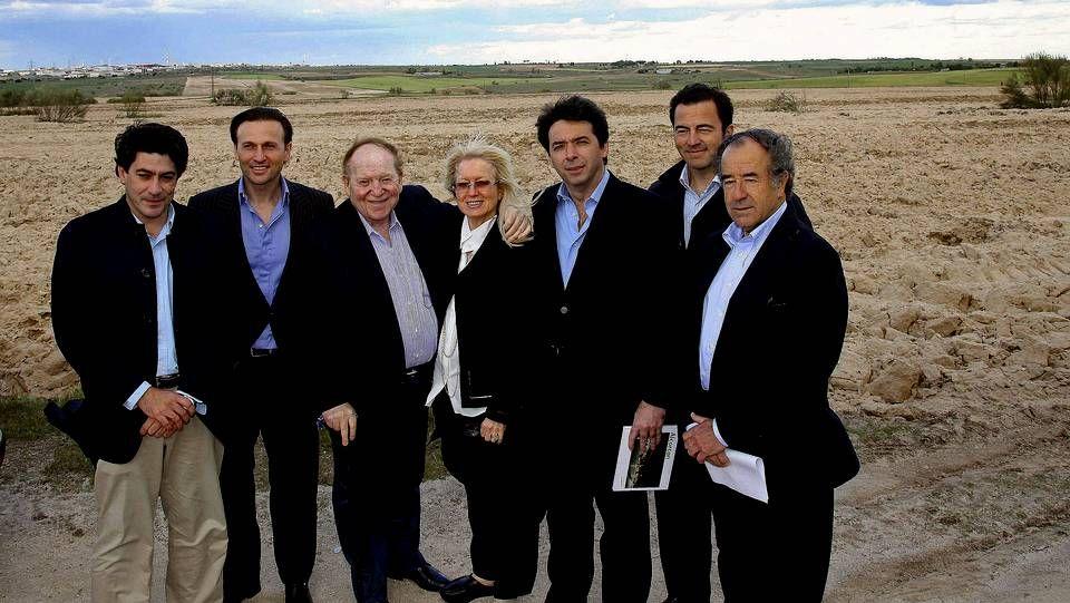 Imagen de archivo de la visita a Madrid del magnate Sheldon Adelson