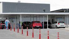 El autocovid instalado en el HUCA