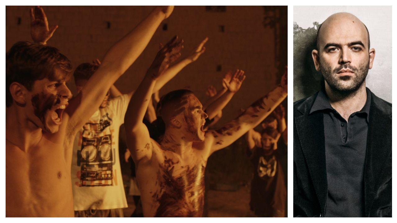 Fotograma del filme de Claudio Giovannesi «Pirañas: Los niños de la Camorra» (2019), que adapta «La banda de los niños», novela a la que Saviano (a la derecha) da ahora continuidad