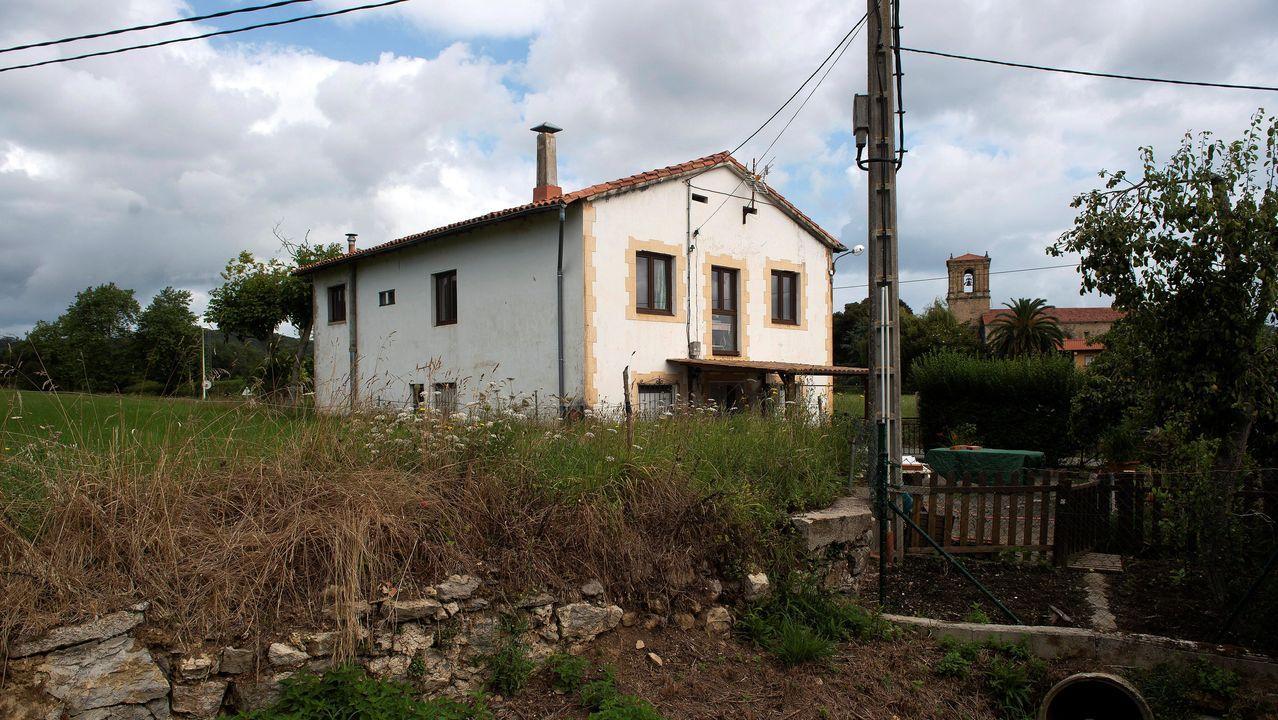 Vista de la casa de la mujer hallada muerta en Escalante