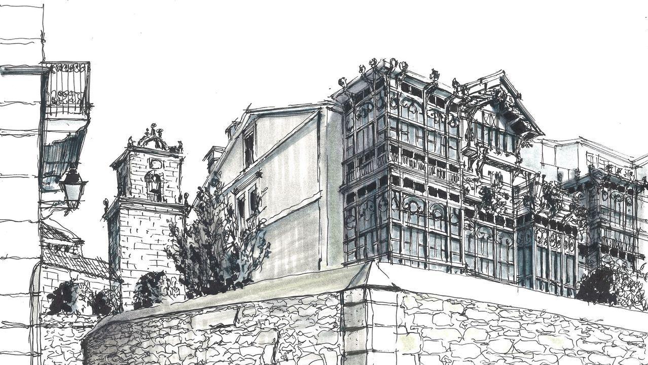Así serán las residencias que construirá la Fundación Amancio Ortega.Una campaña en internet persigue paralizar la «inminente destrucción» de la fachada de La casa de los tiros
