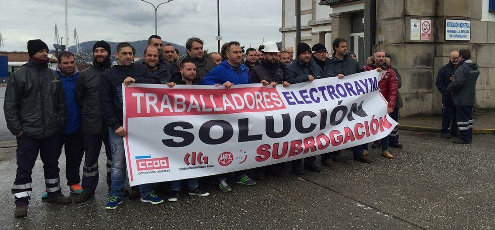Los trabajadores de Electrorayma en Navantia ascienden a unos 45; otros veinte son de Tecman.