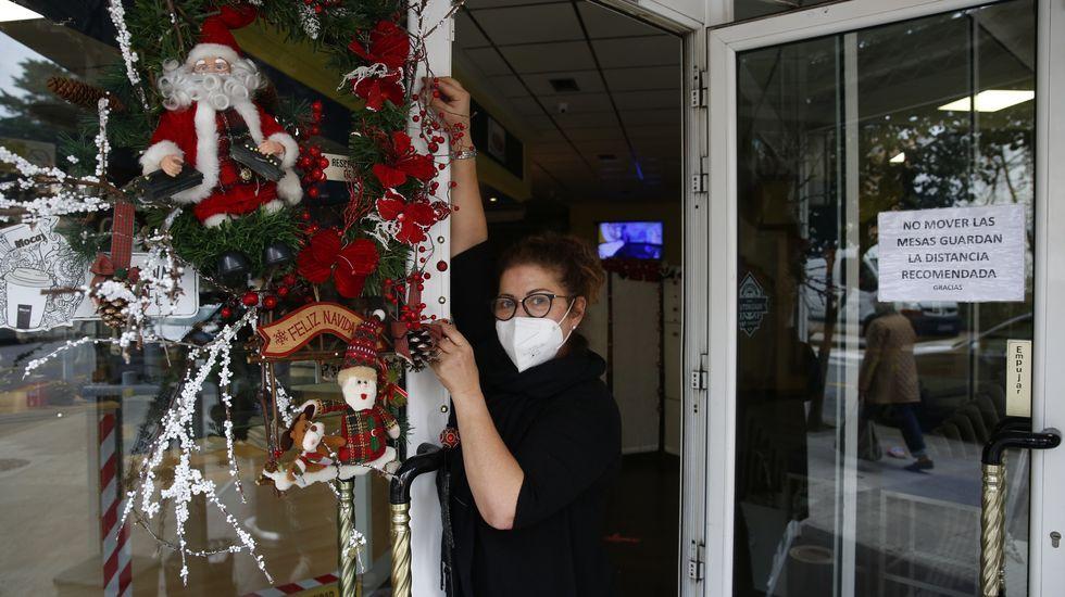 Graciela Rodríguez, en su cafetería Dulce de Leche de Pontevedra, que también reabre