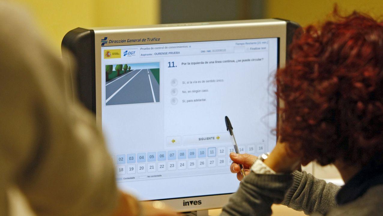 Imagen de archivo de un examen teórico de conducir