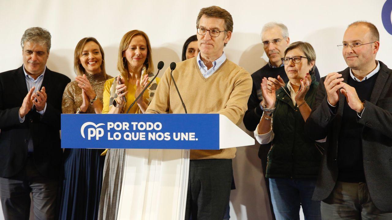 El PPdG celebrando los resultados en Galicia