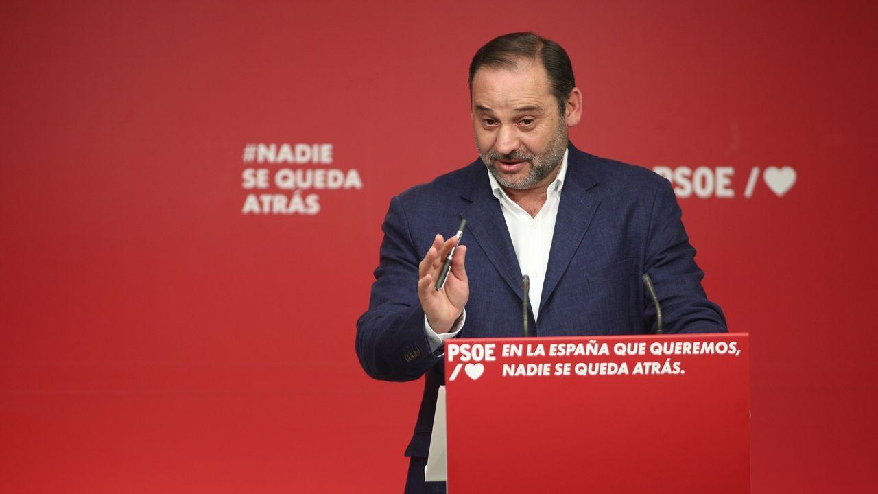 El secretario de organización socialista, José Luis Ábalos, en su análisis de los resultados